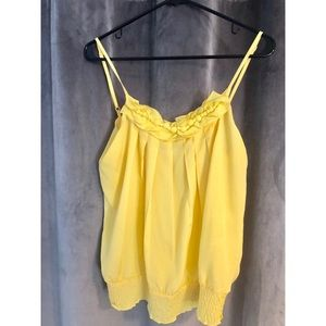 Yellow Esley Spaghetti Strap Top